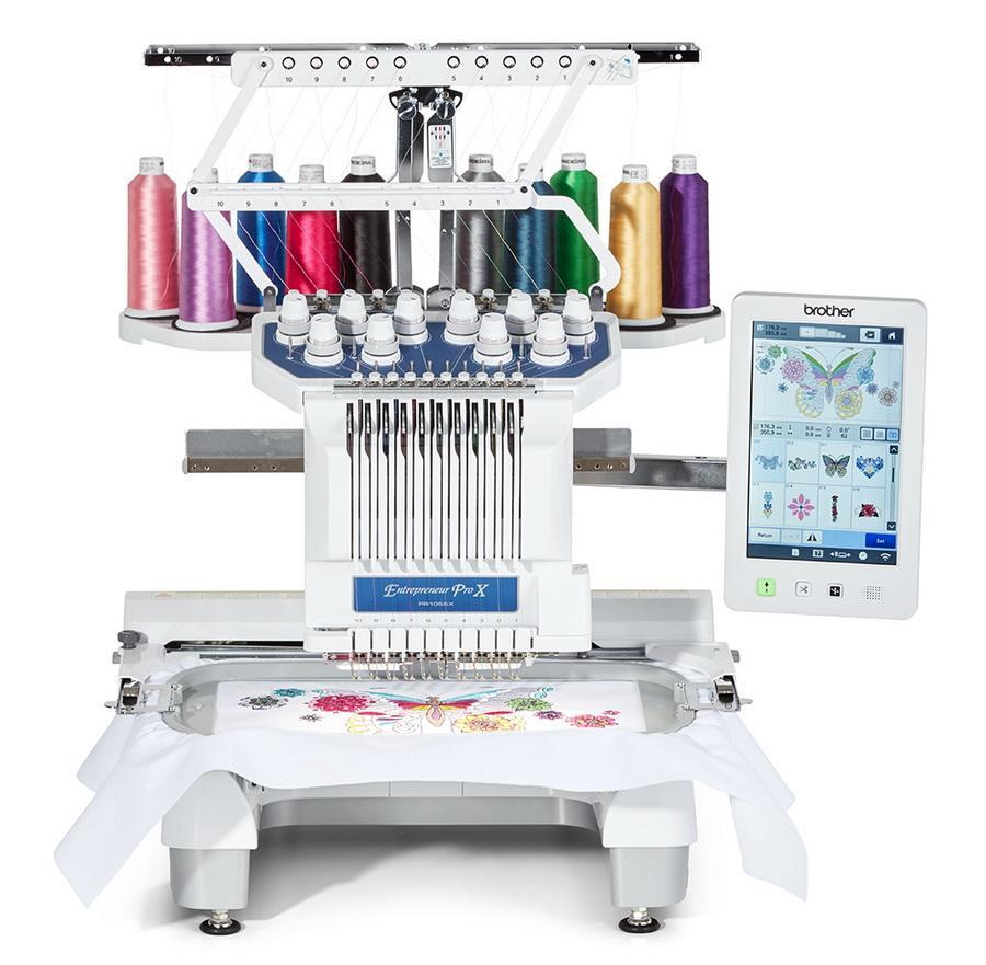 Brother PR1055X Entrepreneur Pro X 10 Needle Multi-Needle Embroidery Machine