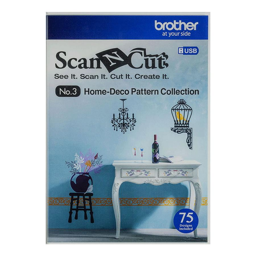 Brother USB No. 3 Home-Deco Pattern Collection, 75 Patterns