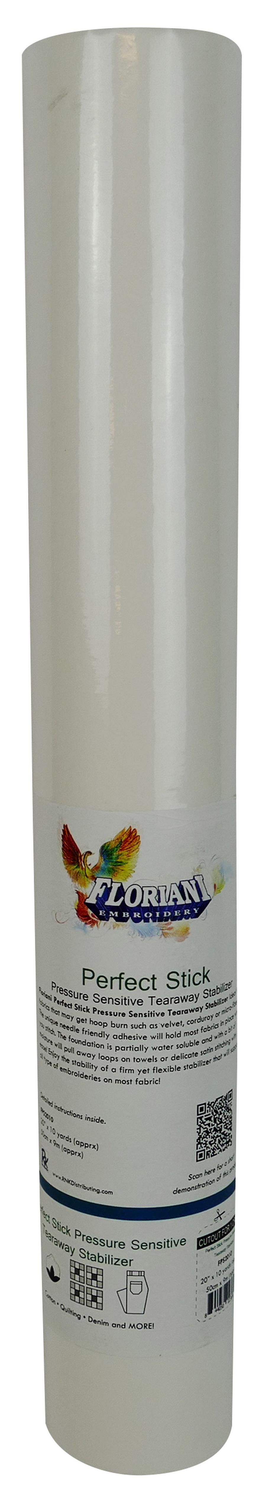Floriani Perfect Stick Pressure Sensitive Stabilizer, 20 in x 10 yds