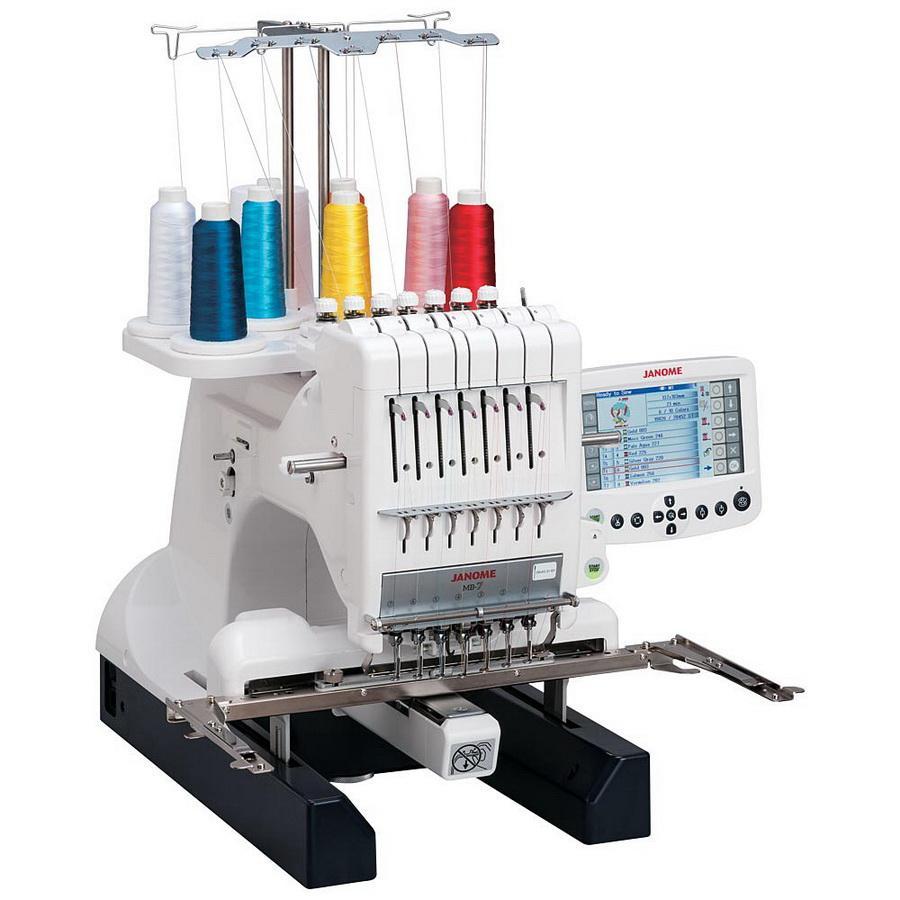 Janome MB-7 Seven-Needle Embroidery Machine (NI) With Free Bonus Bundle!