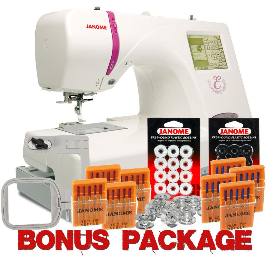 Janome Memory Craft 350E Embroidery Machine w/ FREE BONUS