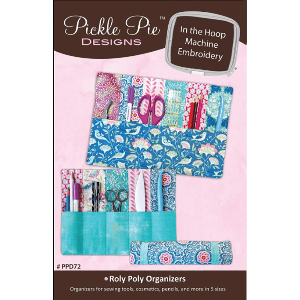 Pickle Pie Designs Roly Poly Organizers ITH Machine Emb Set CD (PPD72)