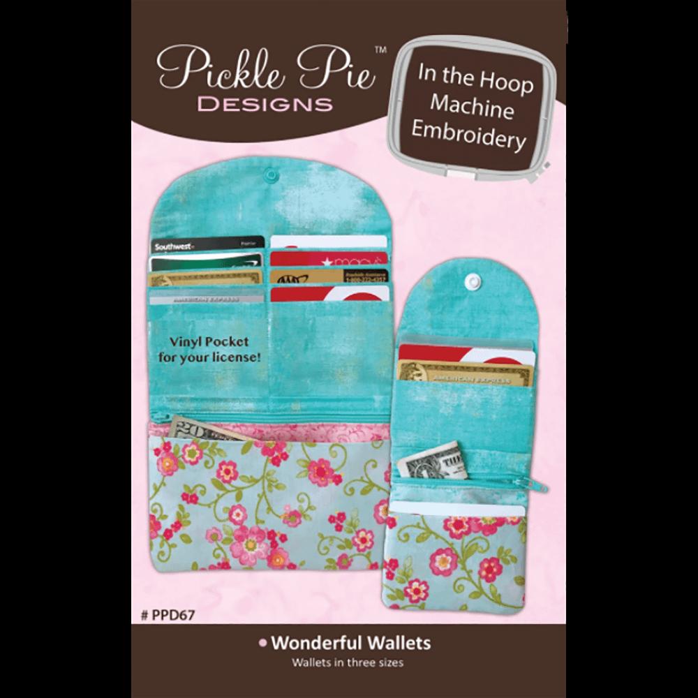 Pickle Pie Designs In the Hoop Wonderful Wallets ME CD (PPD67)