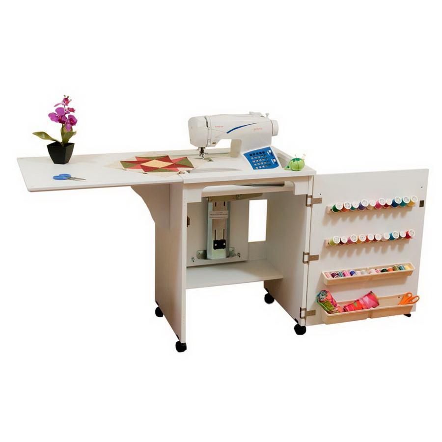 Arrow 98501 Sewnatra Compact Sewing Cabinet - white finish