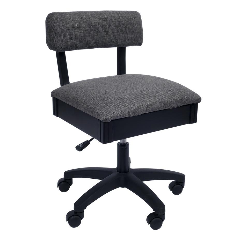 H8123 Arrow Adjustable Height Hydraulic Sewing and Craft Chair - Lady Gray