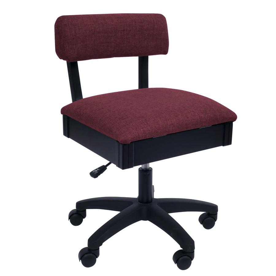 H8150 Arrow Adjustable Height Hydraulic Sewing and Craft Chair - Crown Ruby