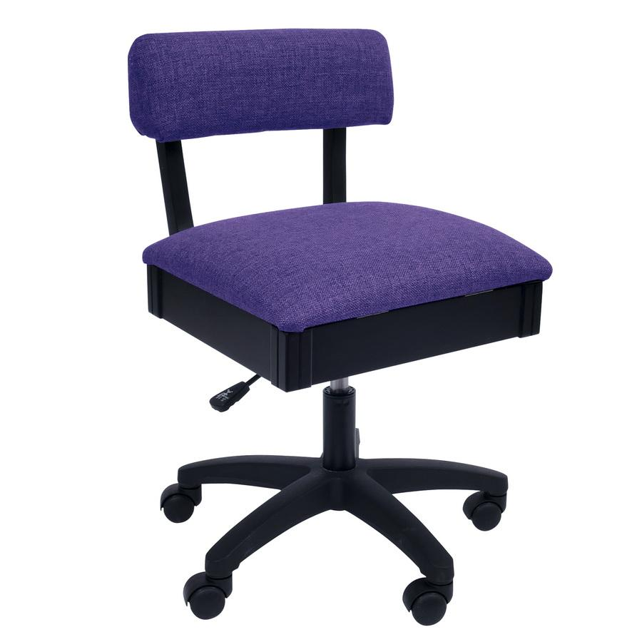 H8160 Arrow Adjustable Height Hydraulic Sewing and Craft Chair - Royal Purple