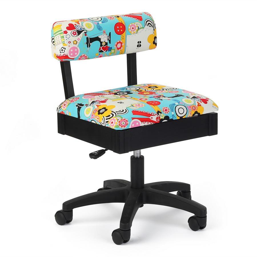 Arrow H6880 Sew Now Sew Wow Hydraulic Sewing Swivel, Chair Underseat Storage