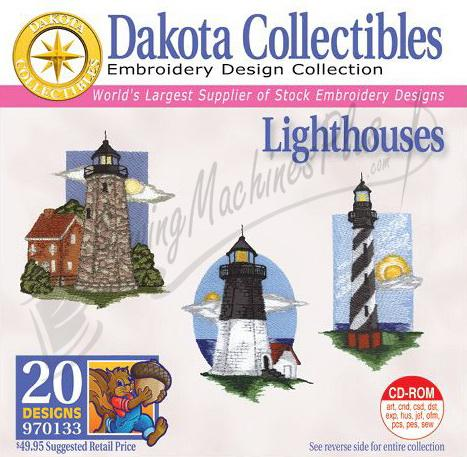 Dakota Collectibles Lighthouses  Embroidery Designs - 970133