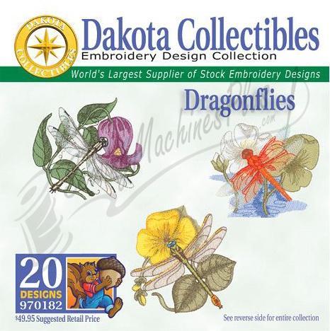 Dakota Collectibles Dragonflies Embroidery Designs - 970182