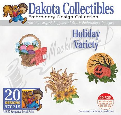 Dakota Collectibles Holiday Variety Embroidery Designs - 970219