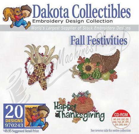 Dakota Collectibles Fall Festivities Embroidery Designs - 970243