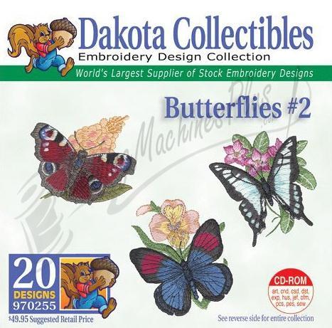 Dakota Collectibles Butterflies #2 Embroidery Designs - 970255