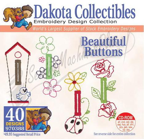 Dakota Collectibles Beautiful Buttons Embroidery Designs - 970388