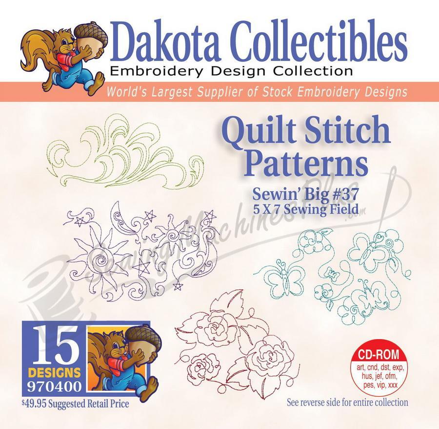 Dakota Collectibles Quilt Stitch Patterns Embroidery Designs - 970400