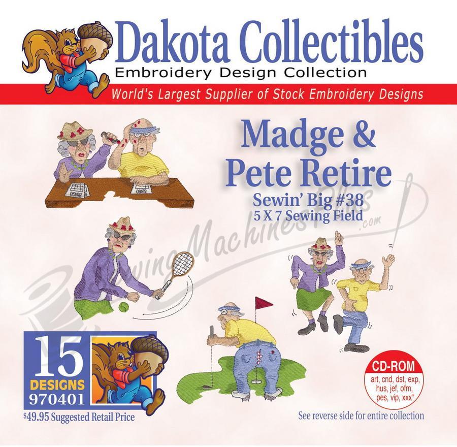 Dakota Collectibles Madge & Pete Retire Embroidery Designs - 970401