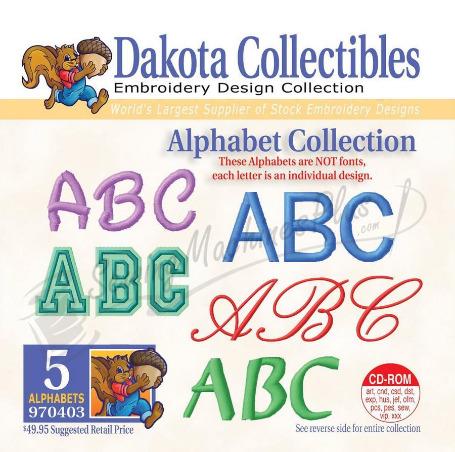 Dakota Collectibles Alphabet Collection Embroidery Designs - 970403