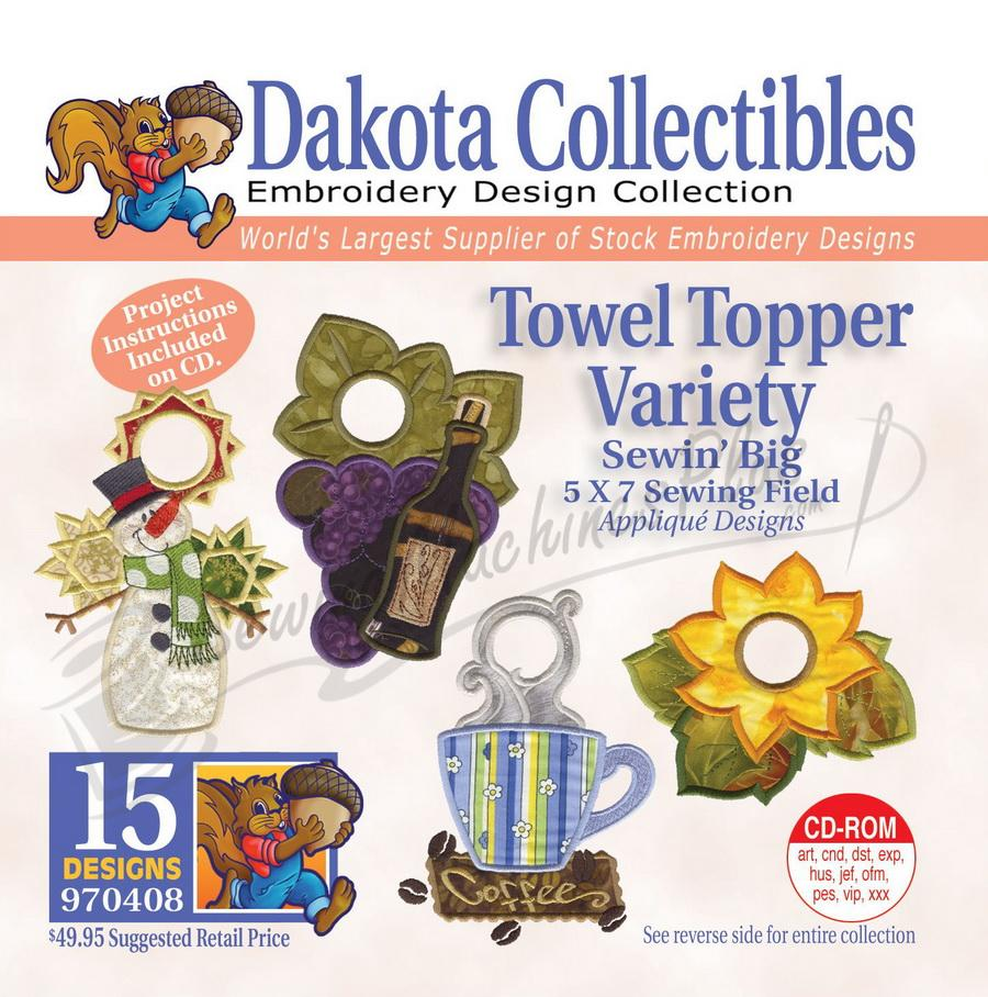 Dakota Collectibles Towel Topper Variety  Embroidery Designs - 970408