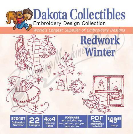 Dakota Collectibles Redwork Winter 970457