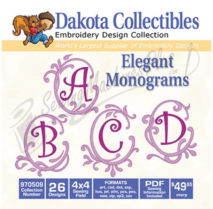 Dakota Collectibles Elegant Monograms 15 5x7 (970509)