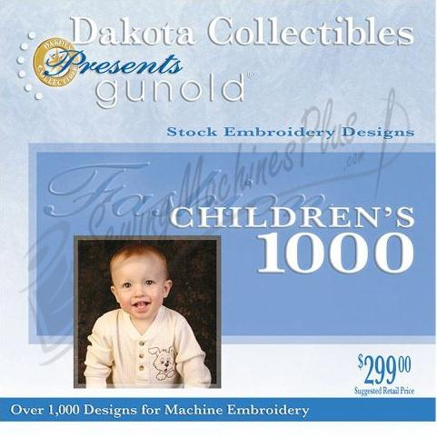 Dakota Collectibles Gunold Fashion Childrens 1000 Embroidery Designs - CH1000