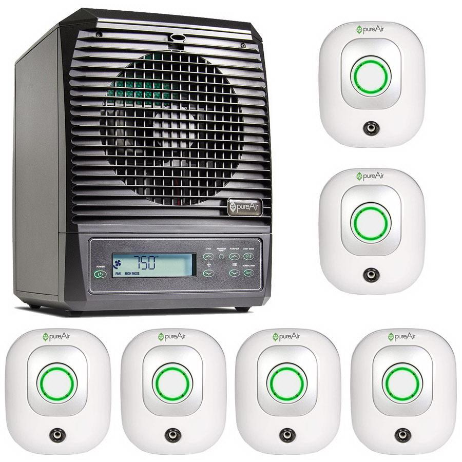 GreenTech Ultimate Whole Room Bundle - (6) pureAir Plug 50 and (1) pureAir 3000