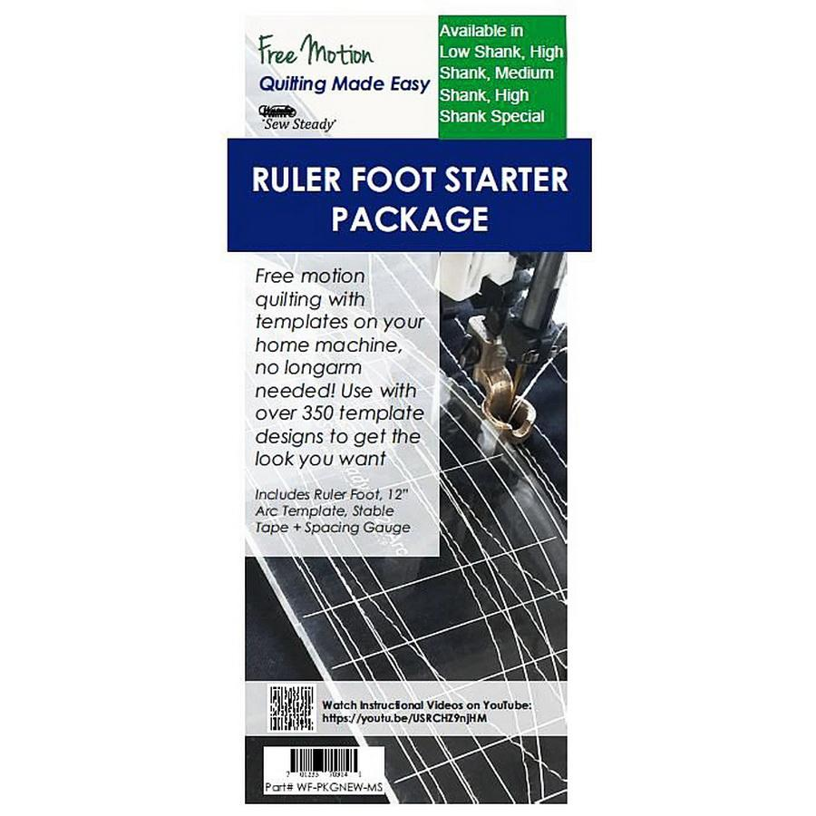Domestic Ruler Foot with 12 inch Arc Template / Stable Tape