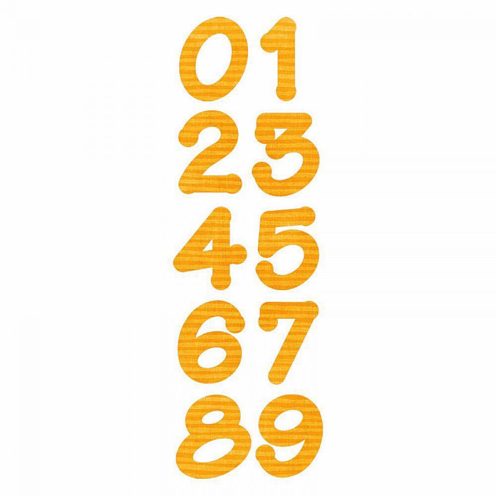 Sizzix Bigz Alphabet Set 2 Dies - Lollipop Shadow Numbers