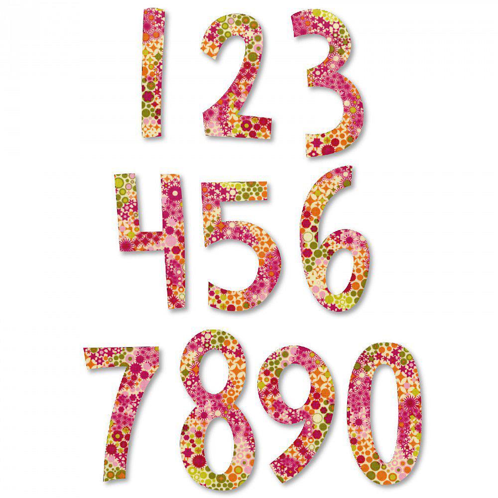 Sizzix Bigz Alphabet Set 2 Dies - Fresh Blossoms Numbers