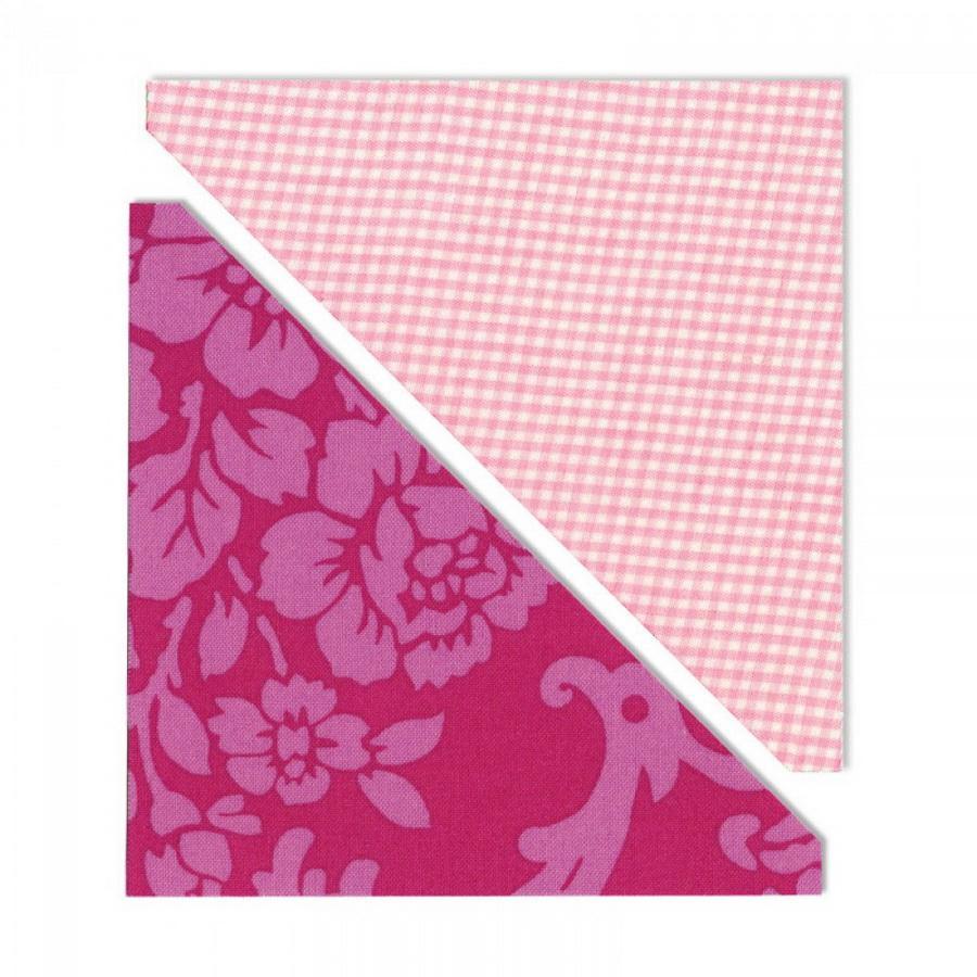 Sizzix Bigz L Die - Half-Square Triangles, 5 inch Assembled Square