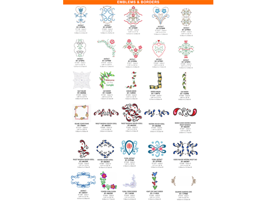 FREE 2500+ Embroidery Design Collection!