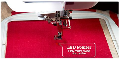 Optional Droplight Embroidery Positioning Marker