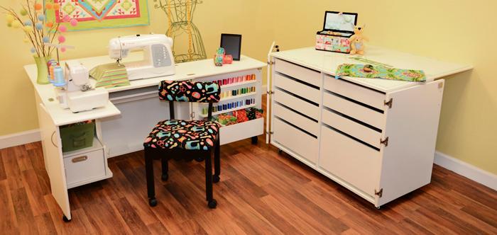 Click for Arrow Kangaroo Kabinets Wallaby II Studio Wallaby Air Lift Sewing Cabinet WHITE (WS-WHT)