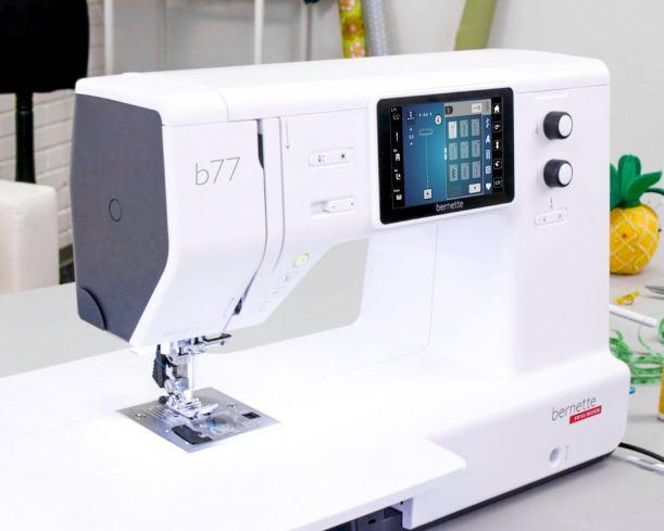 Bright and spacious for fast and accurate sewing