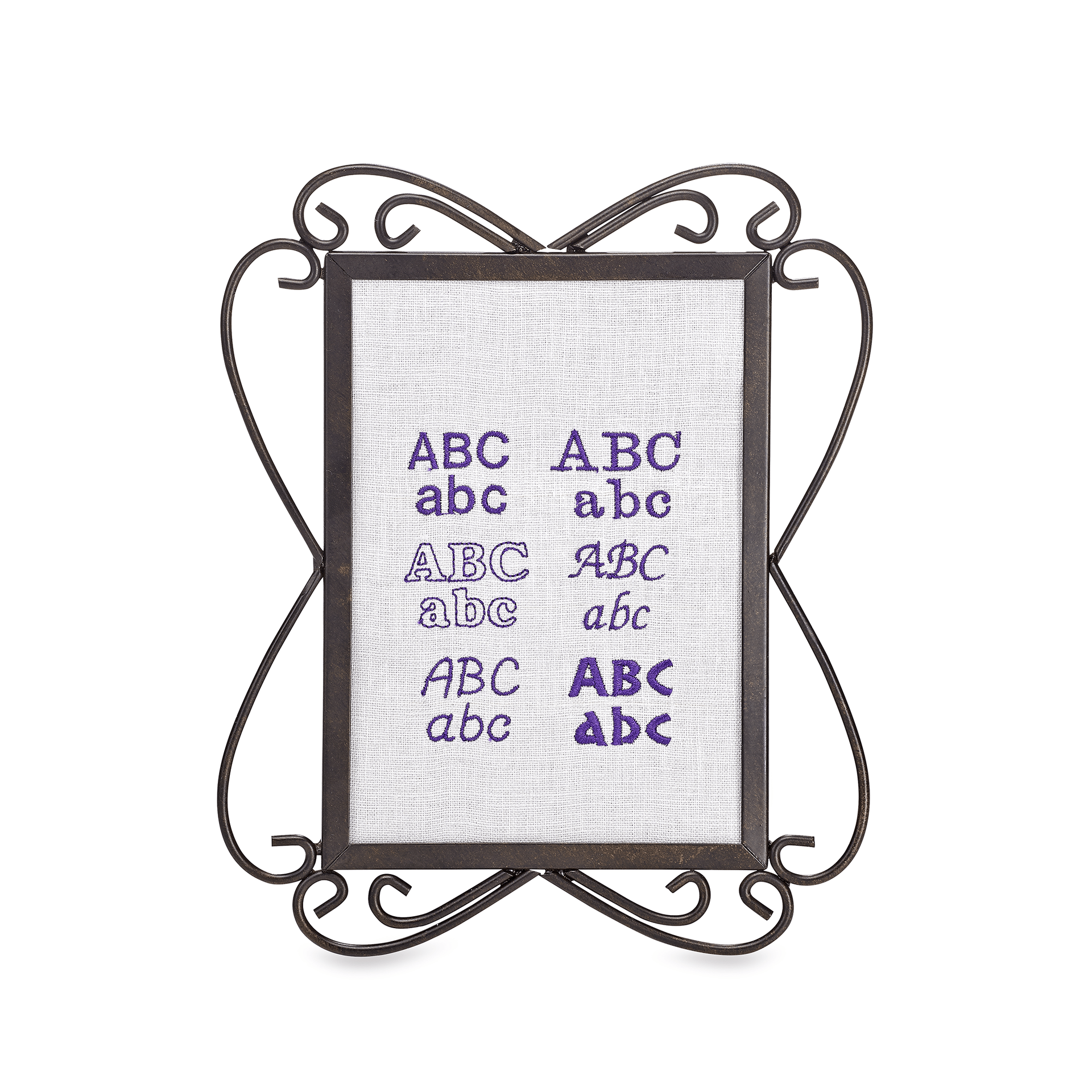 6 Embroidery lettering fonts