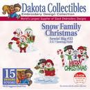 Dakota Collectibles Snow Family Christmas Embroidery Designs - 970382