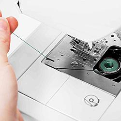 Exclusive Drop & Sew Bobbin System