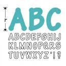 Sizzix Bigz Alphabet Set 4 Dies - Lollipop Shadow Capital Letters