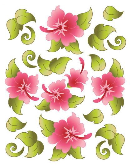 Hawaiian Holiday Pink Tattoo